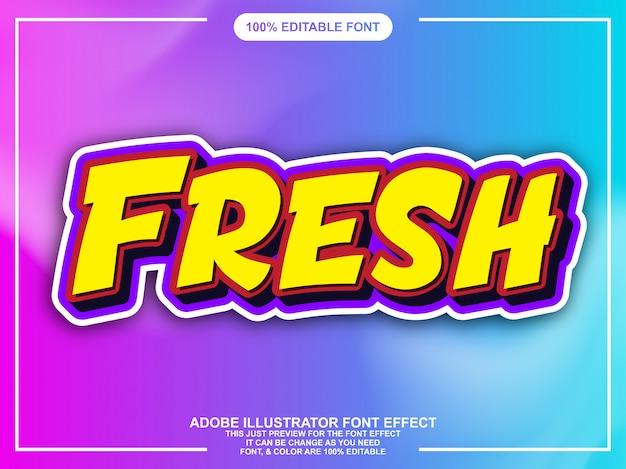 Modern fresh comic style font effect