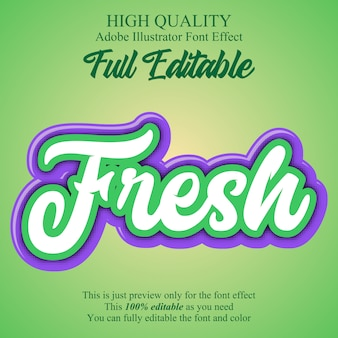 Modern fresh editable  font effect