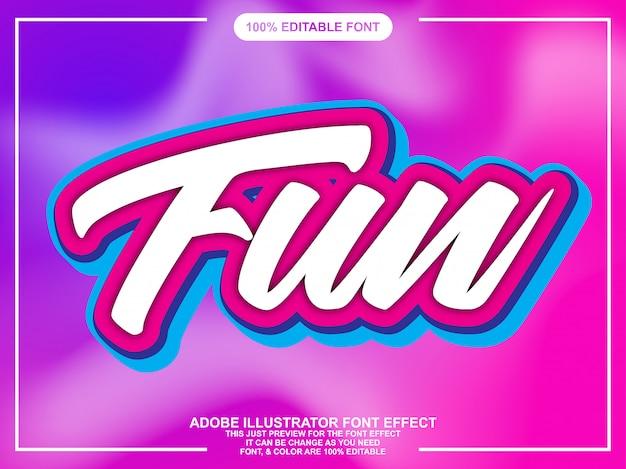 Modern fun script font effect
