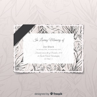Modern funeral card with elegant style
