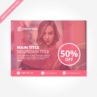 Modern funny pink promotion and discount template