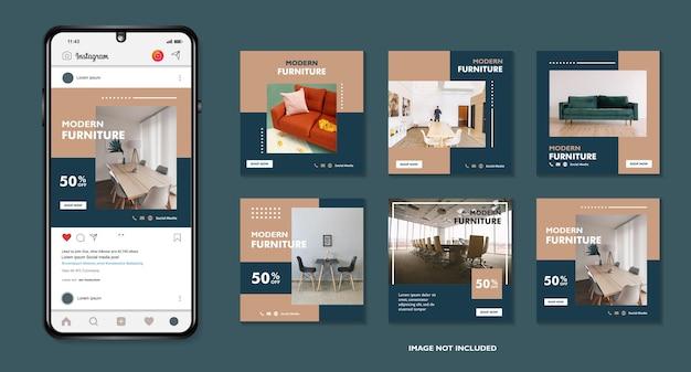 Modern furniture sale banner  and social media post