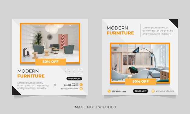 Modern furniture social media and instagram post template