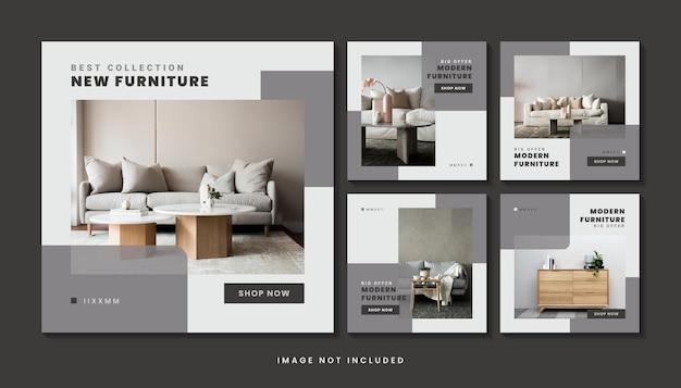 Коллекция шаблонов сообщений в социальных сетях современная мебель