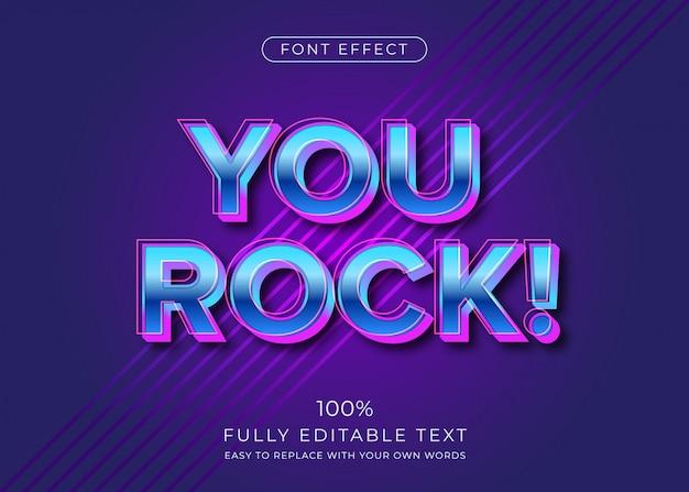 Modern futuristic 3d text style.  font effect