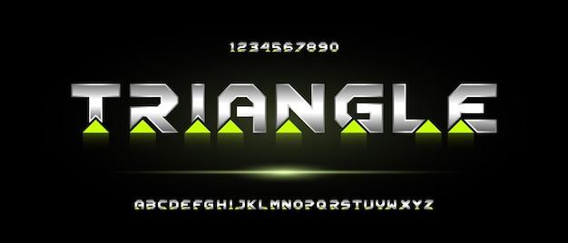 현대 미래형 알파벳 글꼴. 타이포그래피 도시 스타일 글꼴