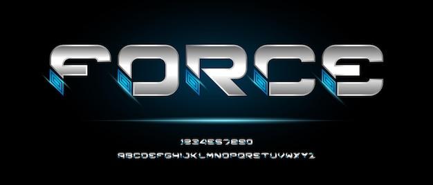 현대 미래형 알파벳 글꼴. 기술, 디지털, 영화, 로고 디자인을위한 타이포그래피 도시 스타일 글꼴