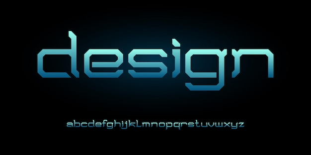 Modern futuristic alphabet font. typography urban style fonts for technology, digital, movie logo design