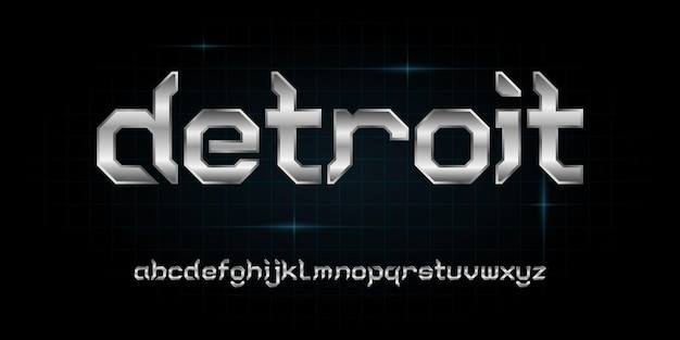 Modern futuristic alphabet font. typography urban style fonts for technology, digital, movie, logo design