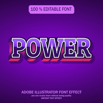 Modern and futuristic font with cool effect
