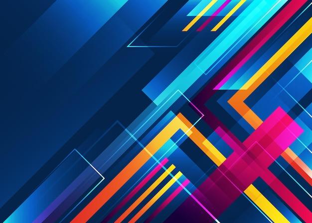 現代の未来的なグラデーションの幾何学的な背景
