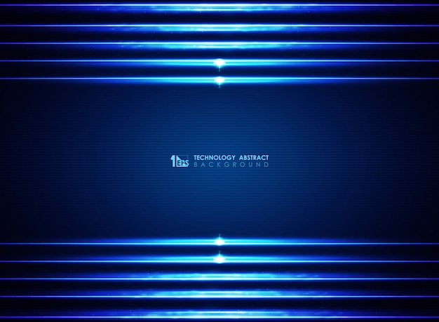 Modern futuristic lasers modern blue lines background.