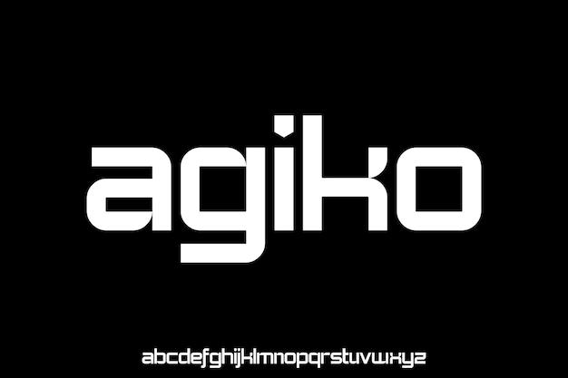 Modern futuristic modern geometric font