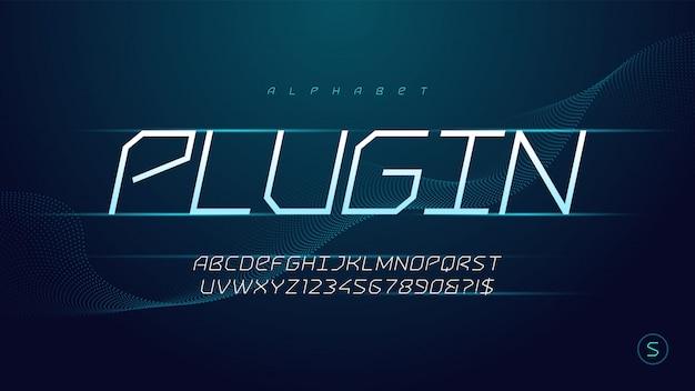 Современная футуристическая научная фантастика технологии алфавит, набор творческих персонажей