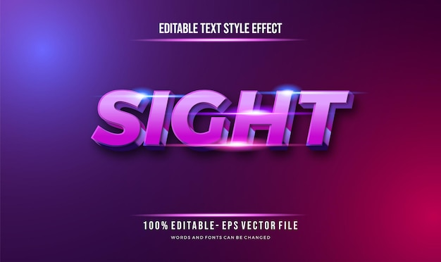 Modern futuristic style and shiny blue effect editable text style. vector editable text effect