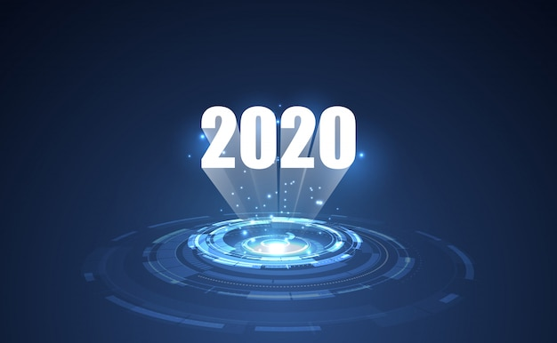 Modern futuristic technology template for 2020.