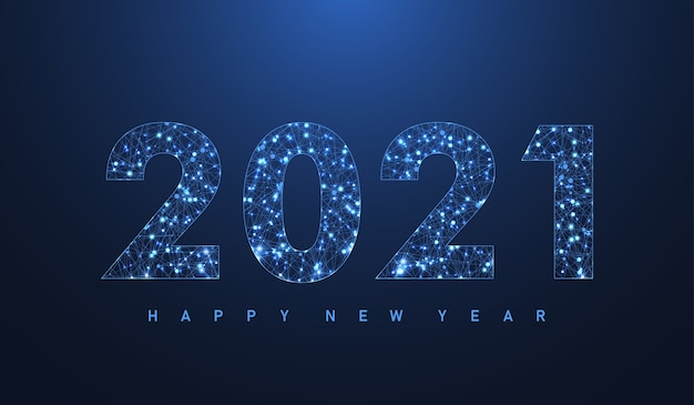 Modern futuristic technology template for merry christmas and happy new year