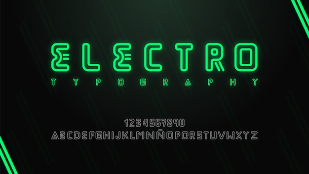 Modern and futuristic typography with electronic music