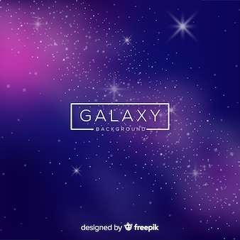 Modern galaxy background with realistic design