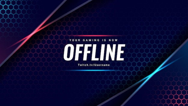 Modern gaming background your gaming is now offline