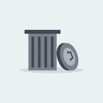 Modern garbage recycle vector