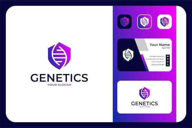 Modern genetics logo design and business card