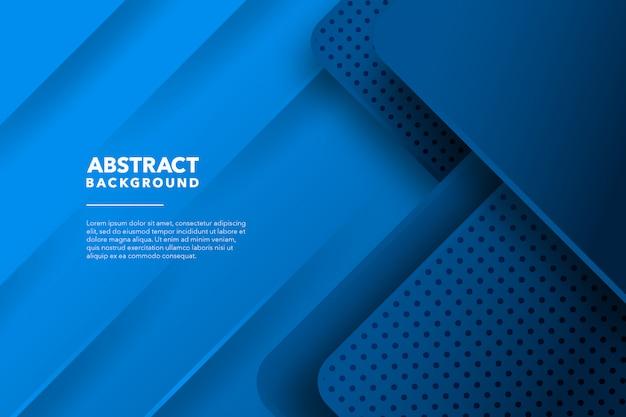 Современный геометрический абстрактный синий фон