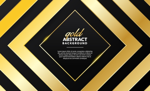 Современный геометрический абстрактный золотой фон