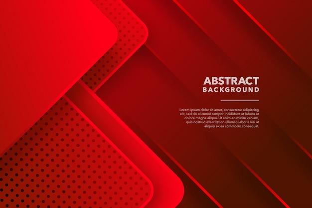Современный геометрический абстрактный красный фон