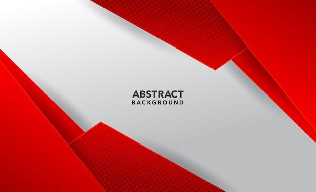 Современный геометрический абстрактный красный белый фон