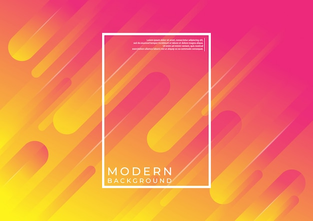 Modern geometric background. dynamic shapes composition