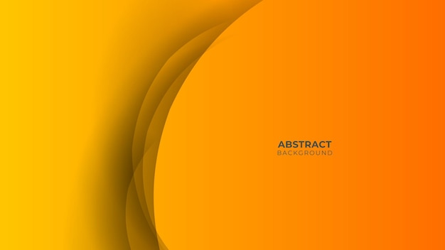 Modern geometric background. orange elements with fluid gradient. dynamic shapes composition