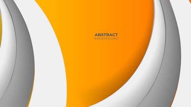 Современный геометрический фон. оранжевые элементы с жидким градиентом. композиция динамических фигур