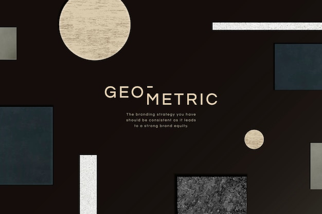 Modern geometric background