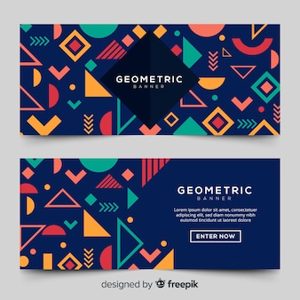 Modern geometric banner