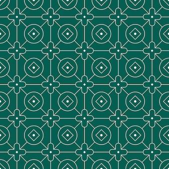 현대 기하학적 바틱 원활한 패턴