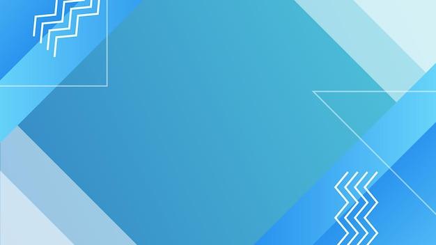 현대 기하학적 파란색 배경입니다. 동적 모양 구성
