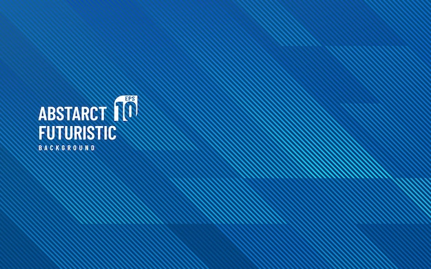 조명 라인 현대 기하학적 파란색 배경입니다.