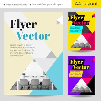 Modern geometric brochure templates
