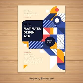 Modern geometric business brochure template