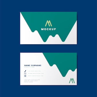 Modern geometric business card design