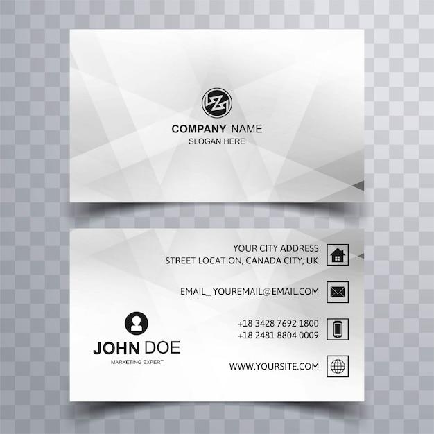 presentation card template