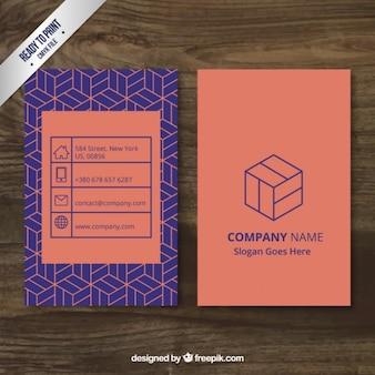 Modern geometric business card Premium Vector