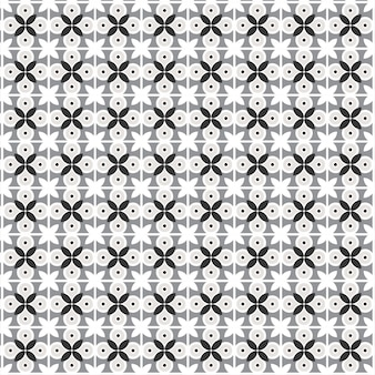Modern geometric flowers pattern with. semicircles in retro flat