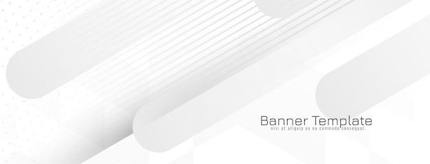 현대 기하학적 회색과 흰색 모자이크 배너 벡터