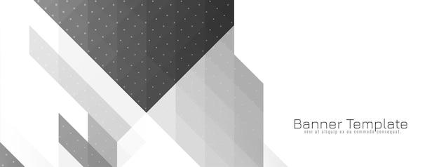 現代の幾何学的な灰色と白のモザイクバナーベクトル