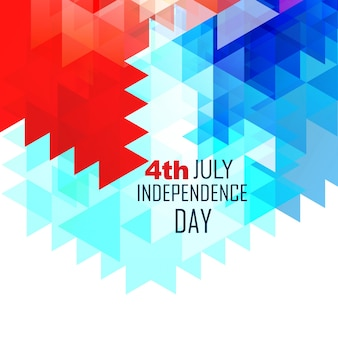 Modern geometric independence day design