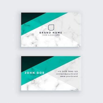 Modern geometric marble business card