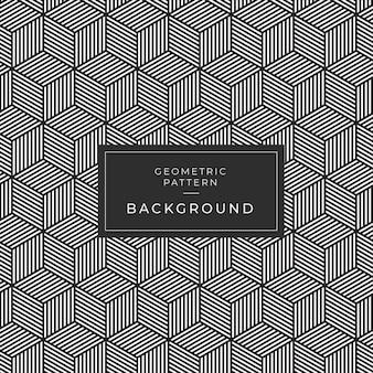 벽지를위한 현대 기하학적 흑백 타일 패턴
