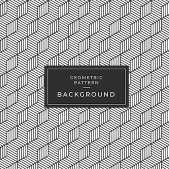 Modern geometric monochrome tile pattern for wallpaper